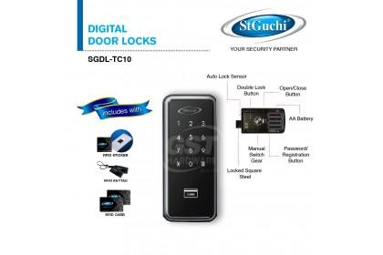 St Guchi SGDL-TC10 Digital Door Lock with Mirafe Card Solution