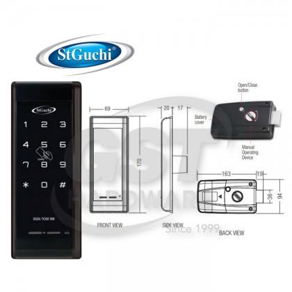 SGDL-TC60MB ST GUCHI DIGITAL RIM LOCK VERSION WITH MIRAFE CARD SOLUTION