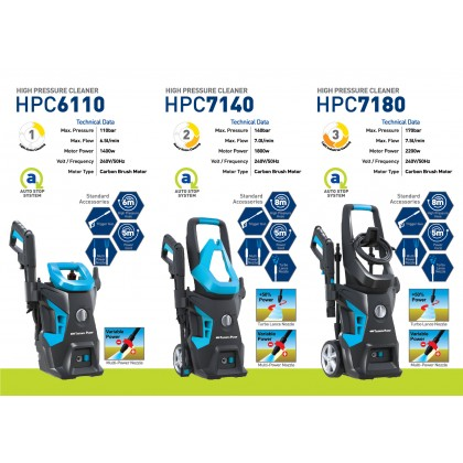 HPC7140 TSUNAMI HIGH PRESSURE CLEANER(1800W/140BAR)