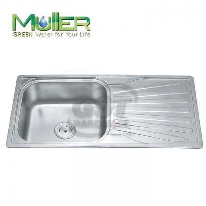 MULLER ML-SV10050 S/S 1 BOWL 1 TRAINER KITCHEN SINK