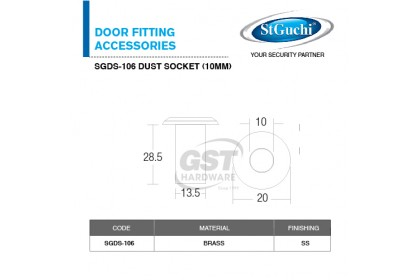 St Guchi Dust Socket SGDS-106 (10mm) | Door Dust | Dust Socket