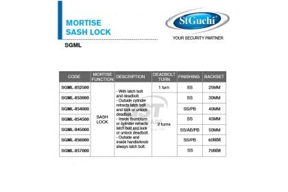 St Guchi Mortise Sash Lock | Door Lock | Mortise Lock | Kunci Pintu Rumah