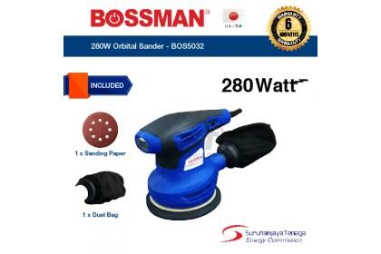 Bossman 280W Orbital Sander BOS5032   Sanding Machine   Sander Machine For Wood   Mesin Kertas Pasir   Sander Machine